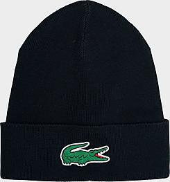 Lacoste Wool Blend Knit Beanie Hat