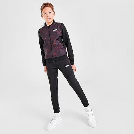 Rascal Boys' Garrison Track Jogger Pants in Purple/Black/Black Size Small Knit