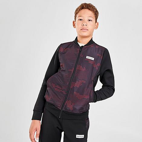 Rascal Boys' Garrison Full-Zip Jacket in Black/Black Size X-Large