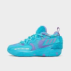 Little Kids' adidas x Monsters, Inc. Dame 7 EXTPLY Basketball Shoes