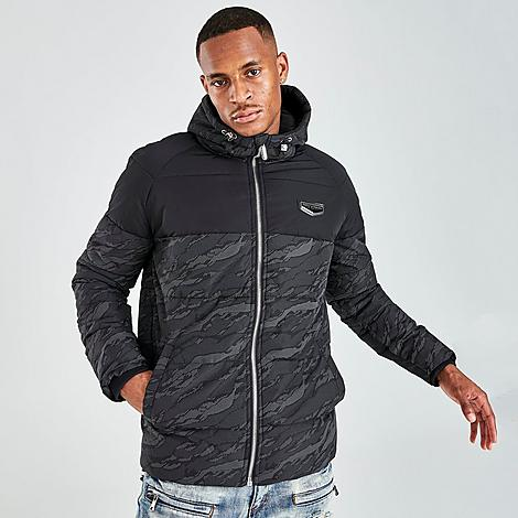 Supply And Demand Men's Camo Eclipse Jacket in Black/Black Size Small Fiber