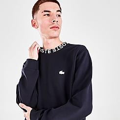 Men's Lacoste Lettered Crew Neck Pullover Sweatshirt