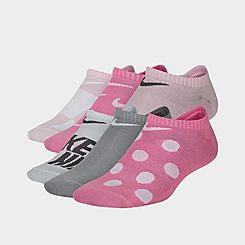 Kids' Nike Everyday 6-Pack Lightweight Graphic No-Show Socks