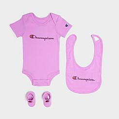 Infant Champion Script Bodysuit, Bib and Booties Gift Set (3-Piece)