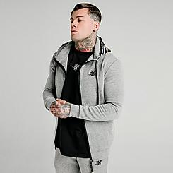 Men's SikSilk Muscle Fit Full-Zip Hoodie
