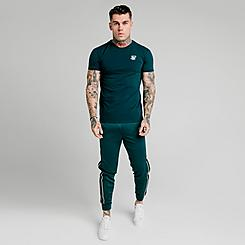 Men's SikSilk Crushed Nylon Panel Pants