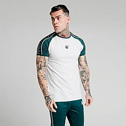 Men's SikSilk Raglan Straight Hem Gym T-Shirt