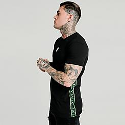 Men's SikSilk Raglan Tape Gym T-Shirt