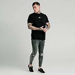 Men's SikSilk Burst Knee Tape Jeans