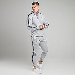 Men's SikSilk Fleece Hoodie and Jogger Pants Track Suit