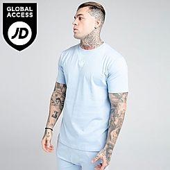 Men's SikSilk Square Hem T-Shirt