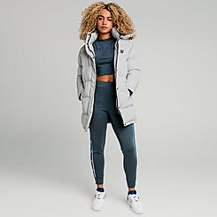 Women's SikSilk Long Padded Puffer Jacket