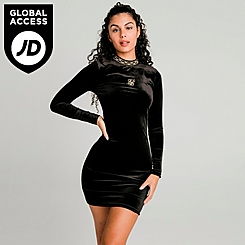 Women's SikSilk Velour Dress