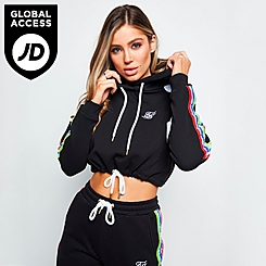 Women's SikSilk Spectrum Cropped Hoodie