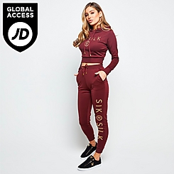 Women's SikSilk Eyelet Mesh Track Jogger Pants