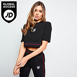 Women's SikSilk Imperial Cropped T-Shirt