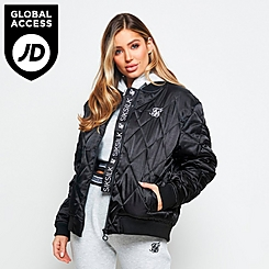 Women's SikSilk Satin Bomber Jacket