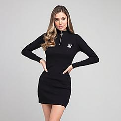 Women's SikSilk Velocity Quarter-Zip Bodycon Dress