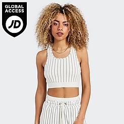 Women's SikSilk x Space Jam Stripe Bralette Top