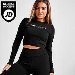 Women's Supply & Demand Lander Rib Crop Long-Sleeve Shirt