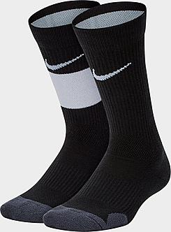 Kids' Nike Elite 2-Pack Crew Basketball Socks