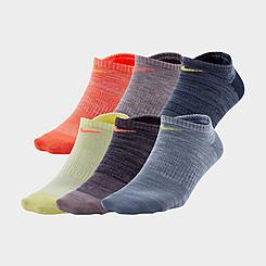 Women's Nike Everyday 6-Pack Lightweight No-Show Training Socks