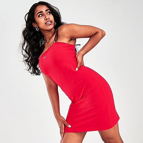 Tommy Jeans Women's Logo Strap Bodycon Dress in Red/Scarlet Size X-Large Size & FitSlim, body-hugging fit Product FeaturesSoft fabric with a touch of stretch Logo details at the strap for classic Tommy style Machine wash The Tommy Jeans Logo Strap Bodycon Dress is imported. Chic meets sporty on the fun, Americana Women's Tommy Jeans Logo Strap Bodycon Dress. Size: X-Large. Color: Red. Gender: female. Age Group: adult. Tommy Jeans Women's Logo Strap Bodycon Dress in Red/Scarlet Size X-Large