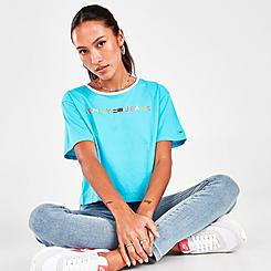Women's Tommy Jeans Fashion Flag T-Shirt