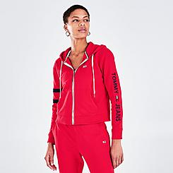 Women's Tommy Jeans Linear Logo Full-Zip Hoodie
