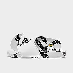 Men's Cross Colours Tupac Chain Slide Sandals