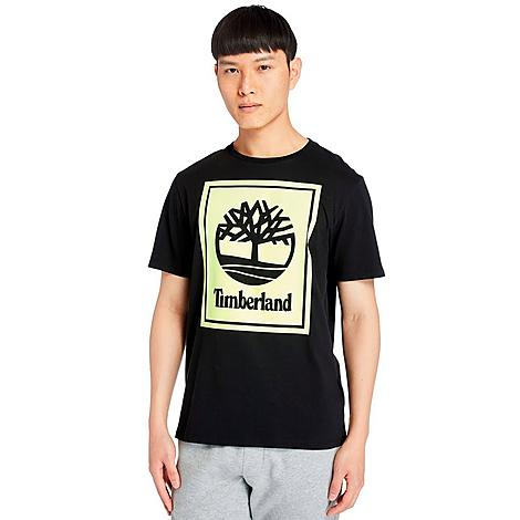 Timberland Men's Stack Logo T-Shirt in Black/Black Size 2X-Large Cotton Size & Fit Standard fit is athletic and relaxed Made from Sustainable Materials Feel good about what you're wearing thanks to the organic cotton used to make this item 100% organic cotton Product Features Cotton material is lightweight and comfortable Ribbed neckband for durability Timberland tree logo at the chest Machine wash The Timberland Stack Logo T-Shirt is imported. Super lightweight and comfortable, the Men's Timberland Stack Logo T-Shirt is the perfect layering piece for all of your chilly weather needs. Start with this as the base and add a sleek jacket for a standout look. Size: 2X-Large. Color: Black. Gender: male. Age Group: adult. Timberland Men's Stack Logo T-Shirt in Black/Black Size 2X-Large Cotton
