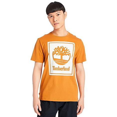 Timberland Men's Stack Logo T-Shirt in Orange/Wheat Boot Size 2X-Large Cotton Size & Fit Standard fit is athletic and relaxed Made from Sustainable Materials Feel good about what you're wearing thanks to the organic cotton used to make this item 100% organic cotton Product Features Cotton material is lightweight and comfortable Ribbed neckband for durability Timberland tree logo at the chest Machine wash The Timberland Stack Logo T-Shirt is imported. Super lightweight and comfortable, the Men's Timberland Stack Logo T-Shirt is the perfect layering piece for all of your chilly weather needs. Start with this as the base and add a sleek jacket for a standout look. Size: 2X-Large. Color: Orange. Gender: male. Age Group: adult. Timberland Men's Stack Logo T-Shirt in Orange/Wheat Boot Size 2X-Large Cotton
