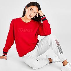 Women's Tommy Hilfiger Stitched Logo Crewneck Sweatshirt