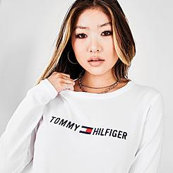 Women's Tommy Hilfiger Sport Embroidered Logo Long-Sleeve T-Shirt