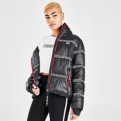 Women's Tommy Hilfiger Logo Tape Cropped Puffer Jacket