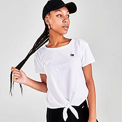 Women's Tommy Hilfiger Logo Tie Cap Sleeve T-Shirt