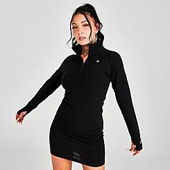 Women's Champion Mock Neck Half-Zip Dress