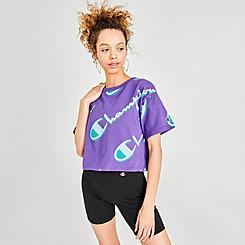 Women's Champion Allover Print Crop T-Shirt