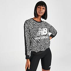 Women's New Balance Athletics Animal Print Crew Sweatshirt