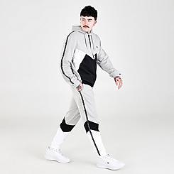 Men's Lacoste Signature Striped Colorblock Fleece Jogger Pants